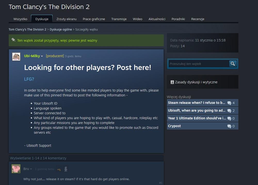 the division 2 steam lol