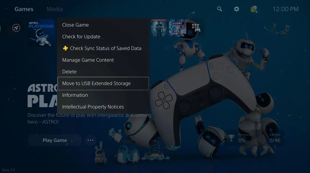 ps5 move to external